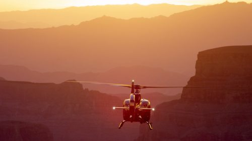 Grand Canyon Helicopter Flight with Floor Landing and Limo at Sunset
