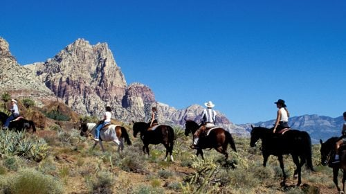 Sunset Horseback Ride in Red Rock Canyon with BBQ Dinner
