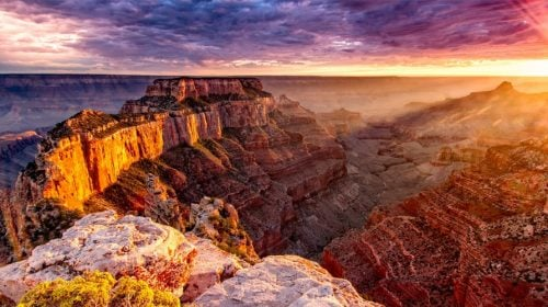 VIP Grand Canyon Helicopter Flight with Floor Landing, at Sunset