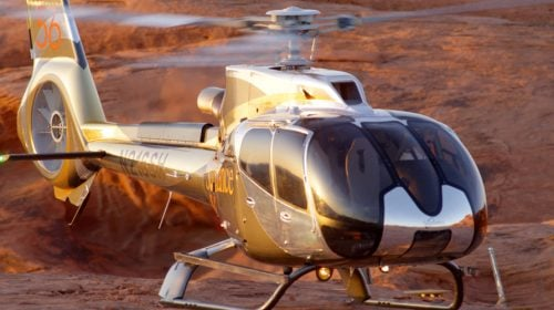 VIP Grand Canyon Helicopter Flight With Floor Landing, Limo Service At Sunset