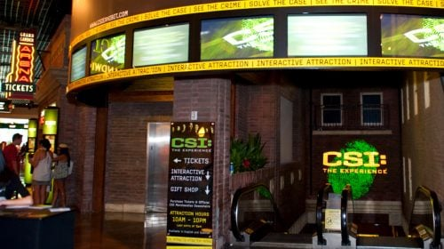Check out the CSI: The Experience in Las Vegas