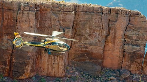 VIP Grand Canyon Helicopter Flight with Floor Landing and Limo
