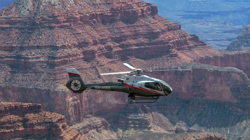 VIP Grand Canyon Helicopter at Sunset