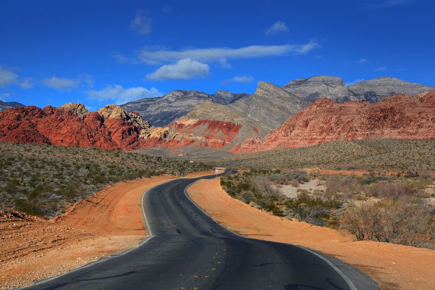 Off the strip red rock canyon
