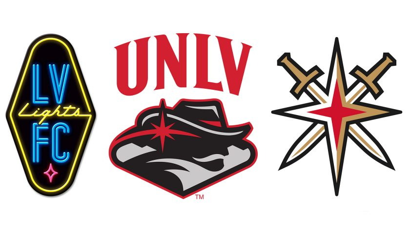 Las Vegas Sign-inspired sports logos