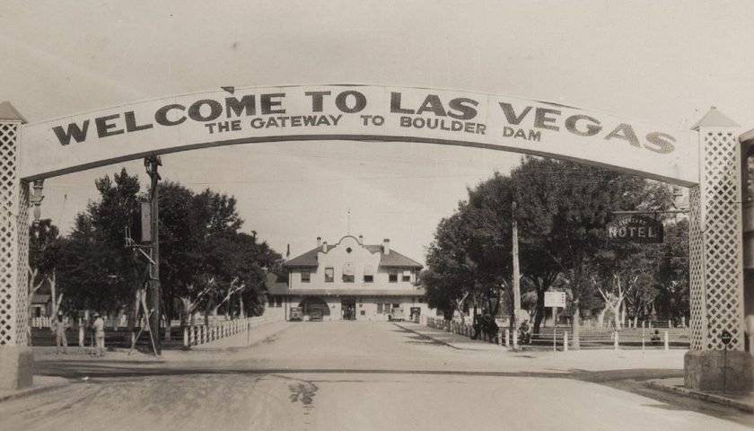 Original Las Vegas Sign Gateway to Boulder Damn